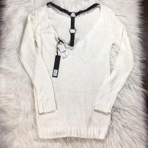 LF | White Knit Sweater